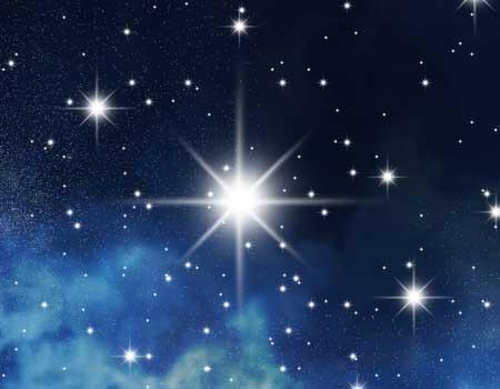 Stern am Nachthimmel