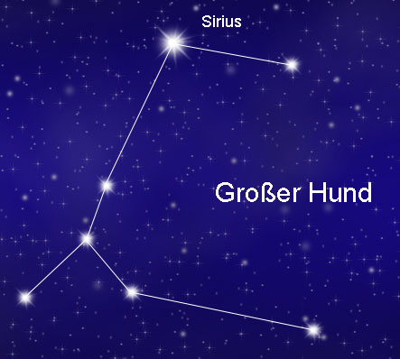 Sternbild Großer Hund