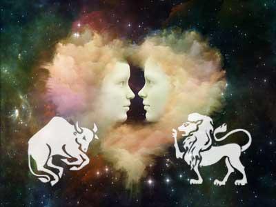 Stier und Löwe