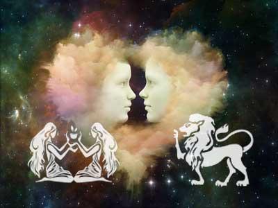 Zwillinge und Löwe