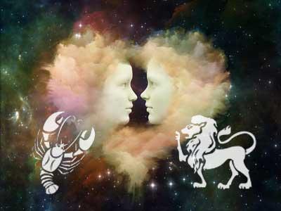 Krebs und Löwe