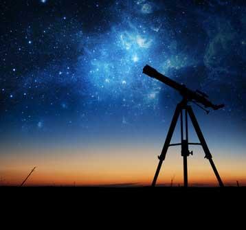 Sternbeobachtung mit Teleskop