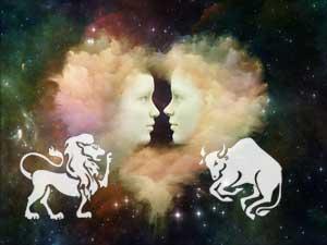Löwe und Stier