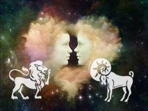 Löwe und Widder
