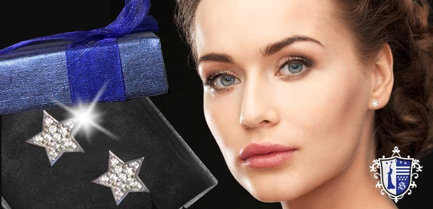 Stern Ohrstecker aus Silber