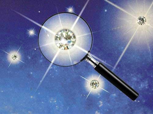 Sternkristalle auf der Urkunde