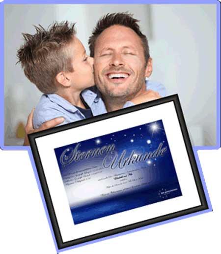 Sterntaufe als Vatertagsgeschenk